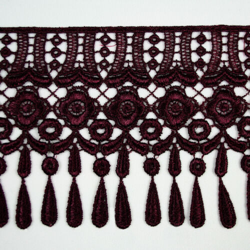 """Unotrim 4/"""" Green Orange Red Gray Gold Lilac Burgundy Venice Lace Trim by 15/"""""""