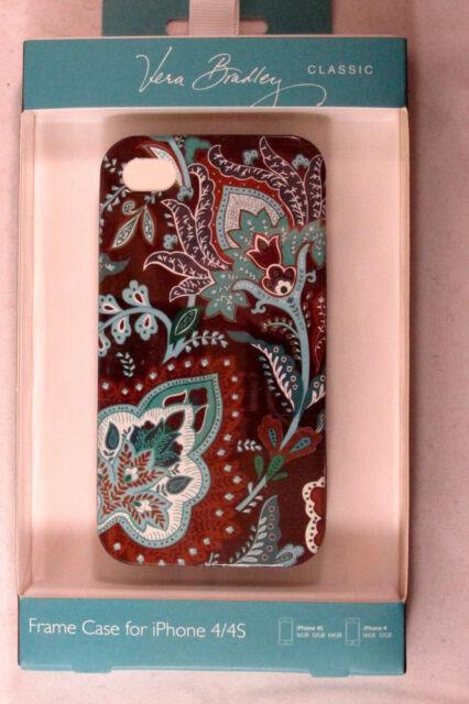 VERA BRADLEY Classic Frame Case for iPhone 4 , 4S NIP Java Blue 12840-010