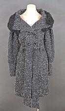 Ringspun Winter Coat 3/4 length Jacket with imitation fur color Black/gray sz M