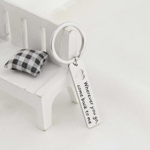 Wherever You Go Come Back To Me Hollow Heart Keychain Key Ring Gifts Hot Sell FI