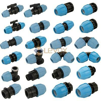 REDUCING STRAIGHT CONNECTOR* MDPE Plastic Compression Fitting Water Pipe WRAS