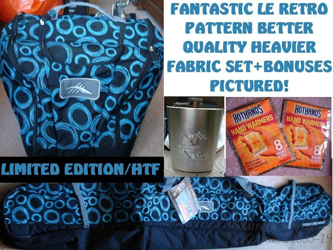 5e9eecec8af1 NEW LE RETRO S8003 S8014 HIGH SIERRA SKI BAG + BOOT BAG COMBO SET SINGLE  DELUXE npgkol2837-Bags   Rucksacks