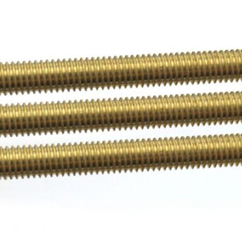 Laiton massif entièrement tige filetée//bar//Rivets M2 2.5,4,5,6,8,10,12,14,16,18,20mm