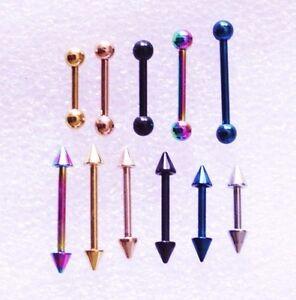16g-6-14mm-Anodized-Piercing-Nipple-Helix-Tragus-Ear-Earing-Barbell-Bar-Coloured