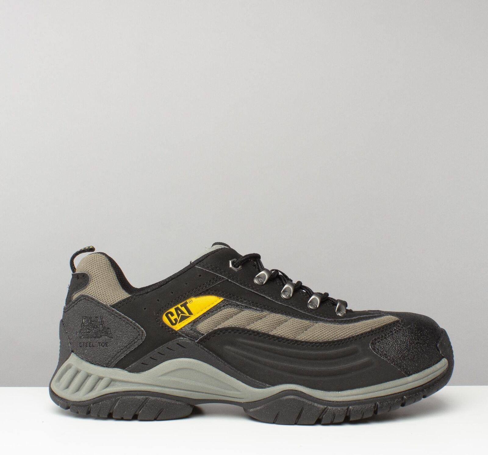 Caterpillar Páramo Seguridad Puntera De Acero Anti-Rozaduras Cap Zapatillas Zapatos CAT Negro Nuevo