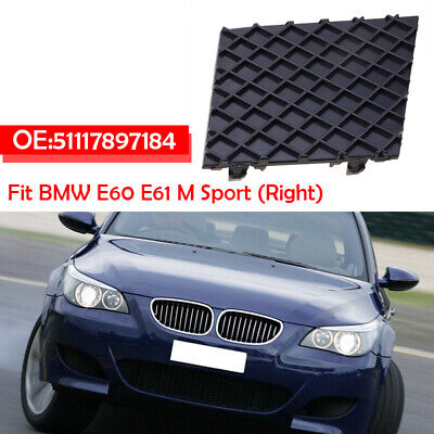 NEW BMW E60 E61 PRE-LCI 2003-2008 FRONT BUMPER RIGHT O//S FOG LIGHT GRILL BLACK