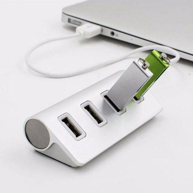 4-Port USB 2.0 Multi HUB Splitter Aluminum Adapter High Speed For PC Mac LOT HOT