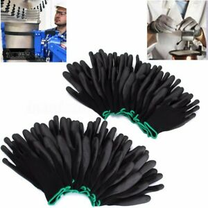 12-24-Pairs-Nylon-PU-Safety-Coating-Work-Gloves-Builders-Grip-Palm-Protect-S-M