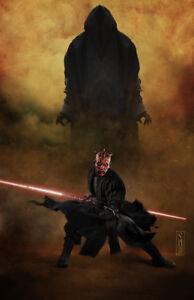 Darth Maul from Star Wars Original Art Print by artist Scott Harben