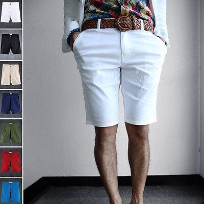 ByTheR Men's Fashion Urban Basic Slim Fit Vivid Color Cotton Shorts P000BJFV