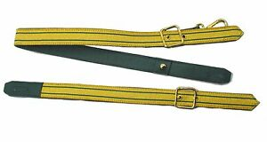 Sword-Sling-Gold-2-Green-Strips-on-Green-Leather-Gold-Buckle-Long-amp-Short-R1806