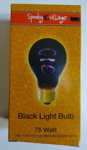 Lot of 3 Black Light Bulb 75 Watt 120V Standard Base Spooky Haunted House Theme