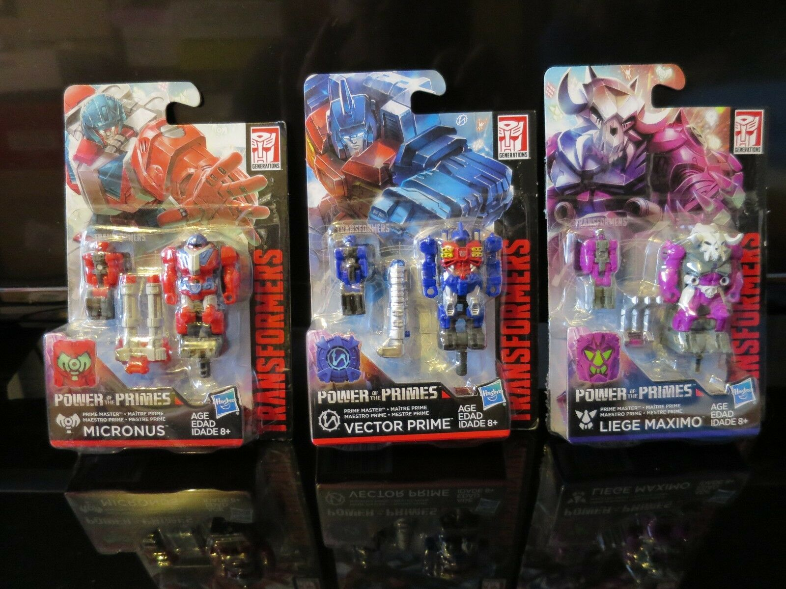 TRANSFORMERS POWER OF THE PRIMES PRIME MASTERS SET OF 3 MISB