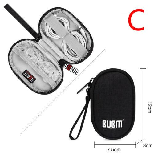 New Mini Nylon Pouch Storage Bag Earphone Wire USB Data Cable Holder Organizer