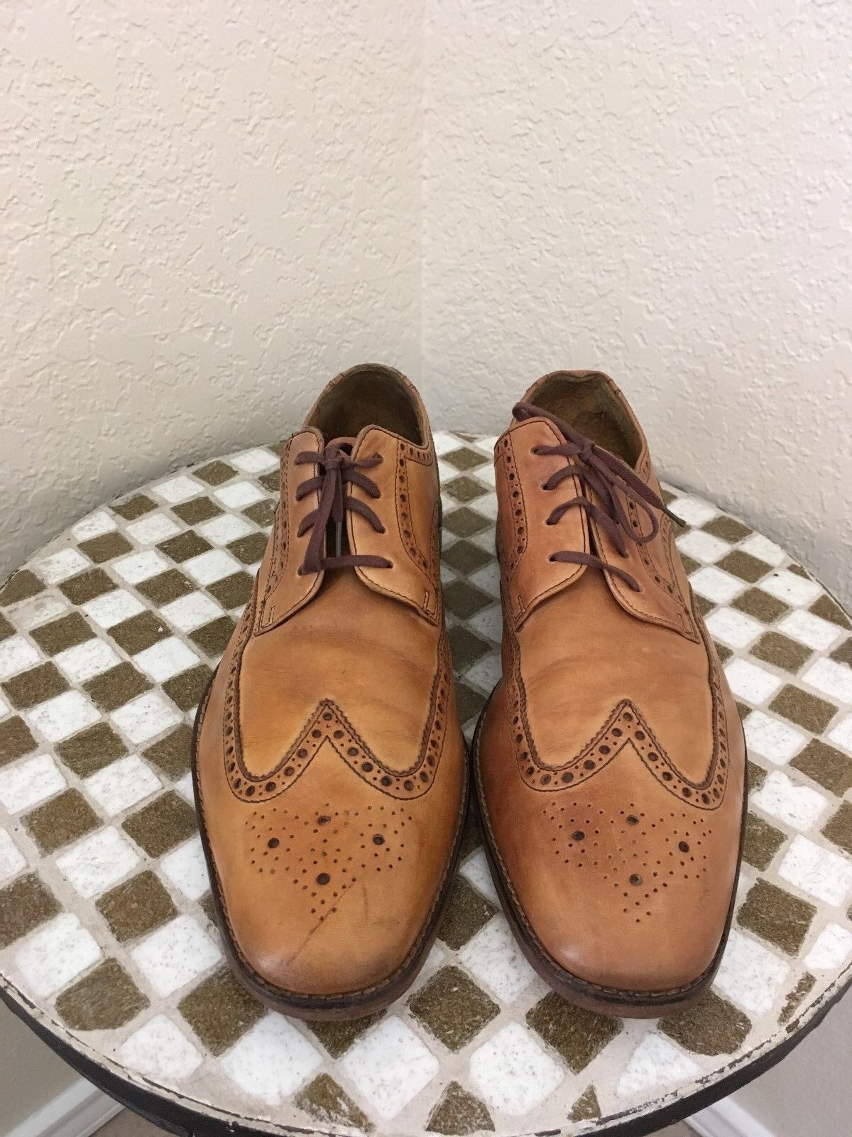 BROWN COLE HAAN WING TIP POWER DRIVING OXFORD SHOES 11.5 M