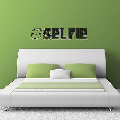 #selfie Wall Sticker- Twitter Wall Sticker - Hashtag Selfie Wall Art