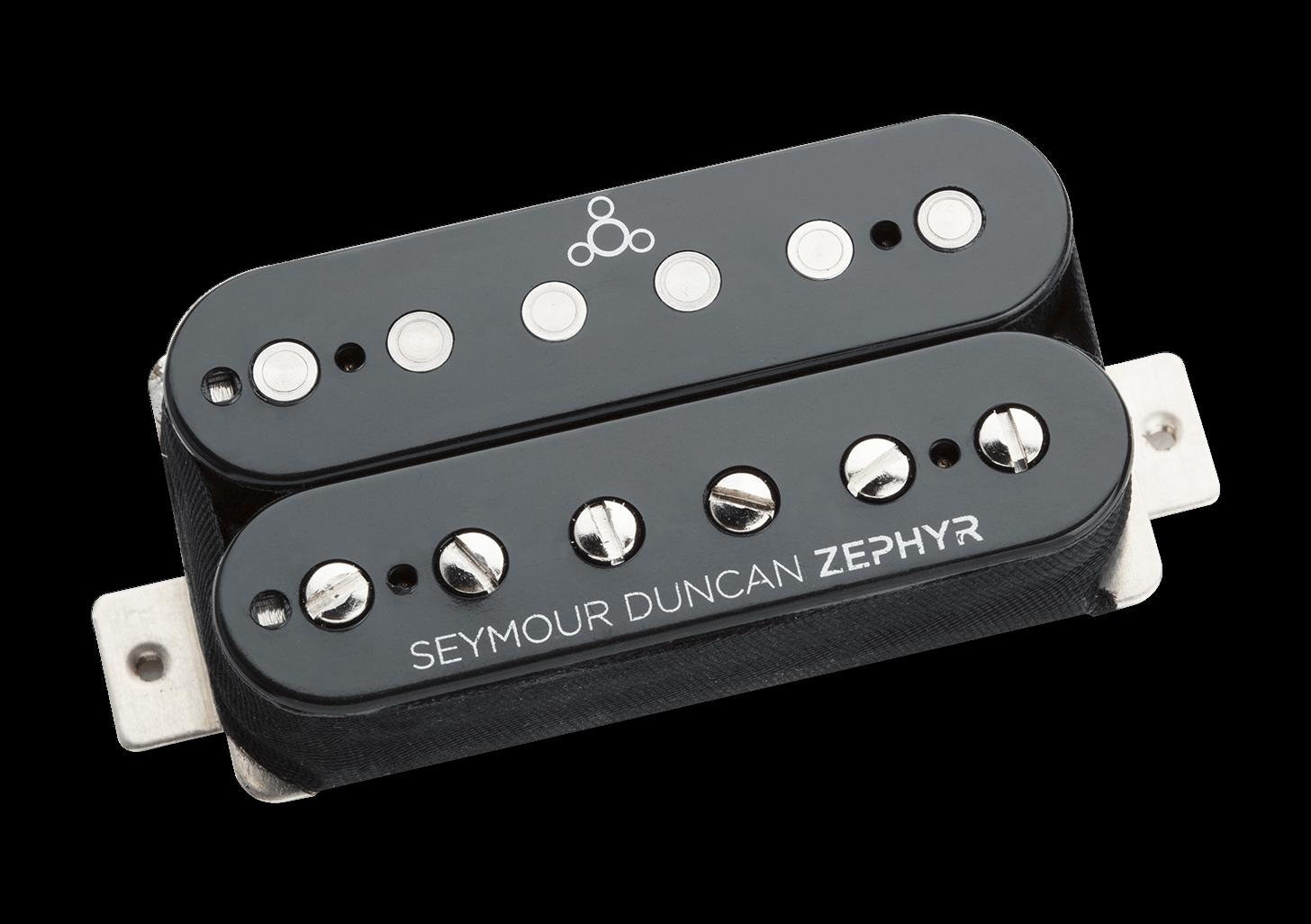Neu Seymour Duncan Zs-1 Zephyr Silber Humbucker Steg-Pickup Schwarz USA No Box