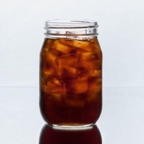 Set of 6 Drinking Mason Jar 16 oz No Handle Libbey 92103