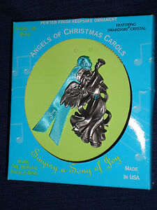 Angels of Christmas Carols Pewter Ornament HARK THE HERALD ANGELS SING w/Box | eBay