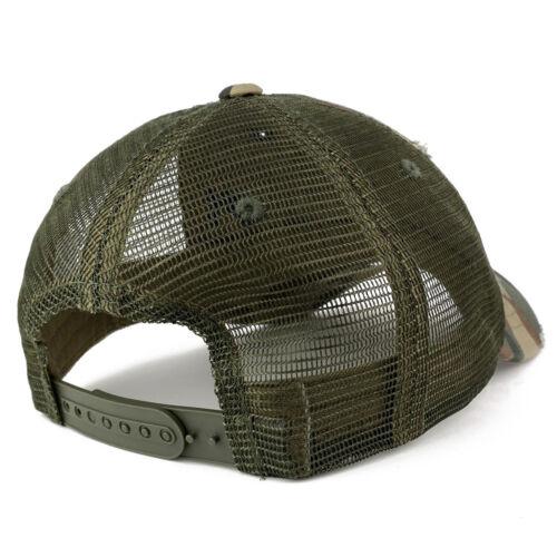 Vintage Distressed Mesh Adjustable Trucker Cap
