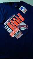 - Vintage 80's Mlb Baseball Tee T-shirt Blue Xl '89 World Series Giants Rare