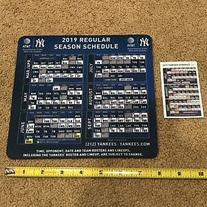 Details about New York Yankees SGA 2019 Mouse Pad Calendar Baseball MLB +  Pocket Schedule
