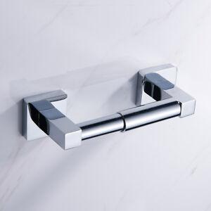 Wall Mounted Toilet Roll Paper Holder Bath Bar Tissue Dispensers Hanger Chrome 6666964567139