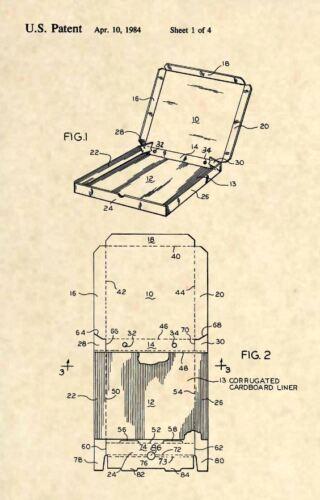 Caja De Pizza oficial US Patent Art Print-Oficial pizzería restaurante-Caja de 338
