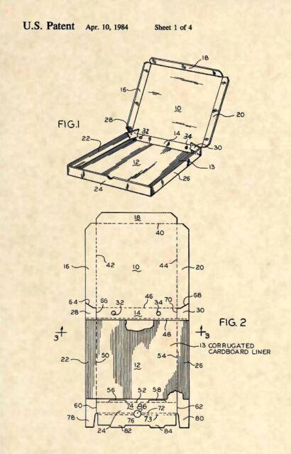 Pizza Cutter Slicer Italian Pasta Restaurant 105 Official US Patent Art Print