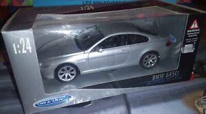 WELLY-1-24-BMW-645-Ci-SILVER-NEUF-EN-BOITE