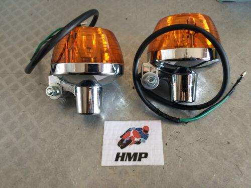 HONDA CB750 K4 PAIR OF QUALITY CHROMED METAL INDICATORS NEW