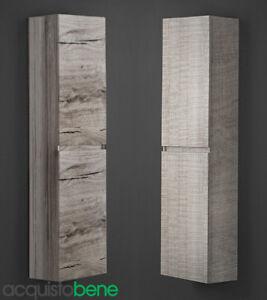 Mobile bagno colonna sospesa con 2 ante finitura legno Wood colore ...