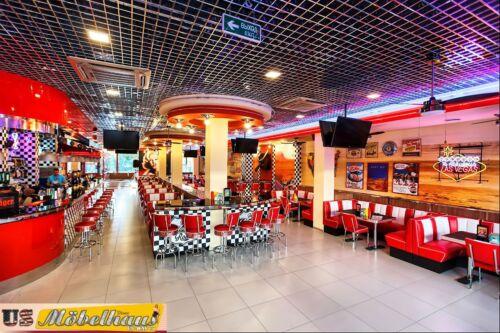 BS-29 Black  Bel Air Barhocker Diner Theke Bar Stuhl Fifties Amerika Style USA