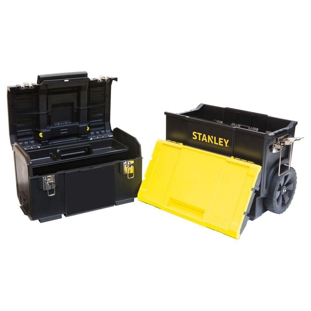 Detachable Tool Box Rolling Organizer 3-in-1 Portable W