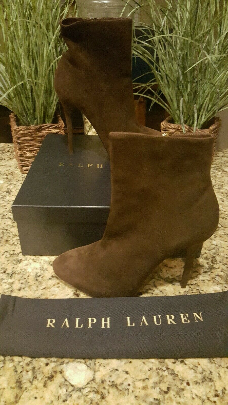 Ralph Lauren Women Collection Suede Brown Boots Italy RARE Sz 11 850 THESPOT917
