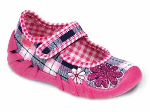 Befado Girls canvas shoes sandals infants kids trainers slippers size 3-9UK