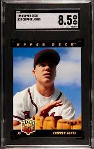 1993-Upper-Deck-24-Chipper-Jones-Rookie-Card-SGC-8-5