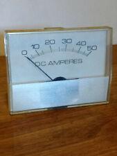 Ind 0 50 Dc Amperes 3 12 Dia Analog Panel Meter
