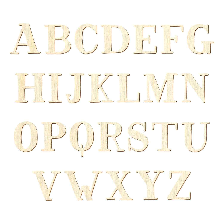 Bütic Sperrholz Lern-Alphabet Set A-Z 26 Buchstaben - Pappel 3mm