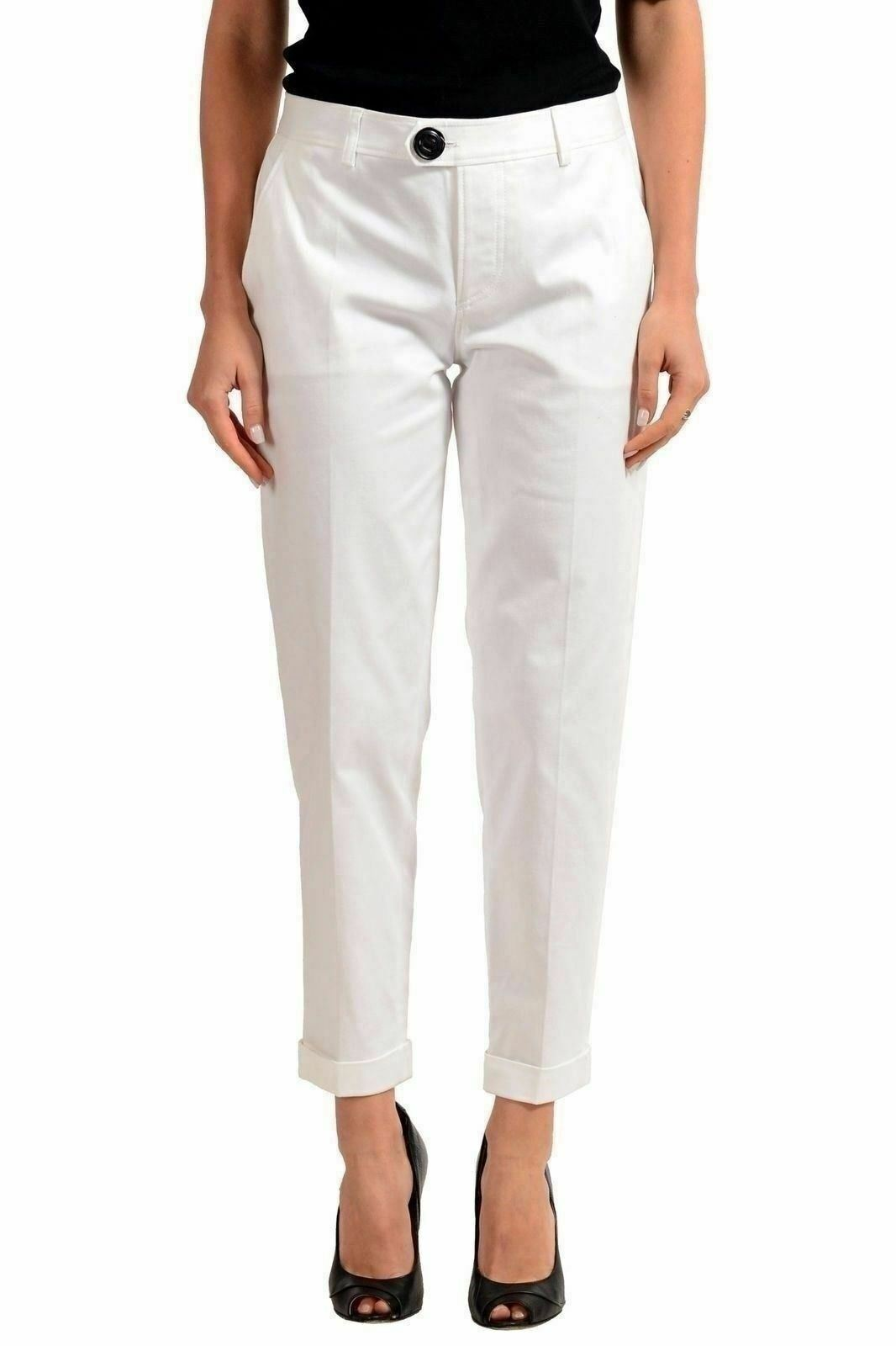 Dsquared2 Bianco Slim Donna Pantaloni Casual USA XS It 38 38 38 f73f6f