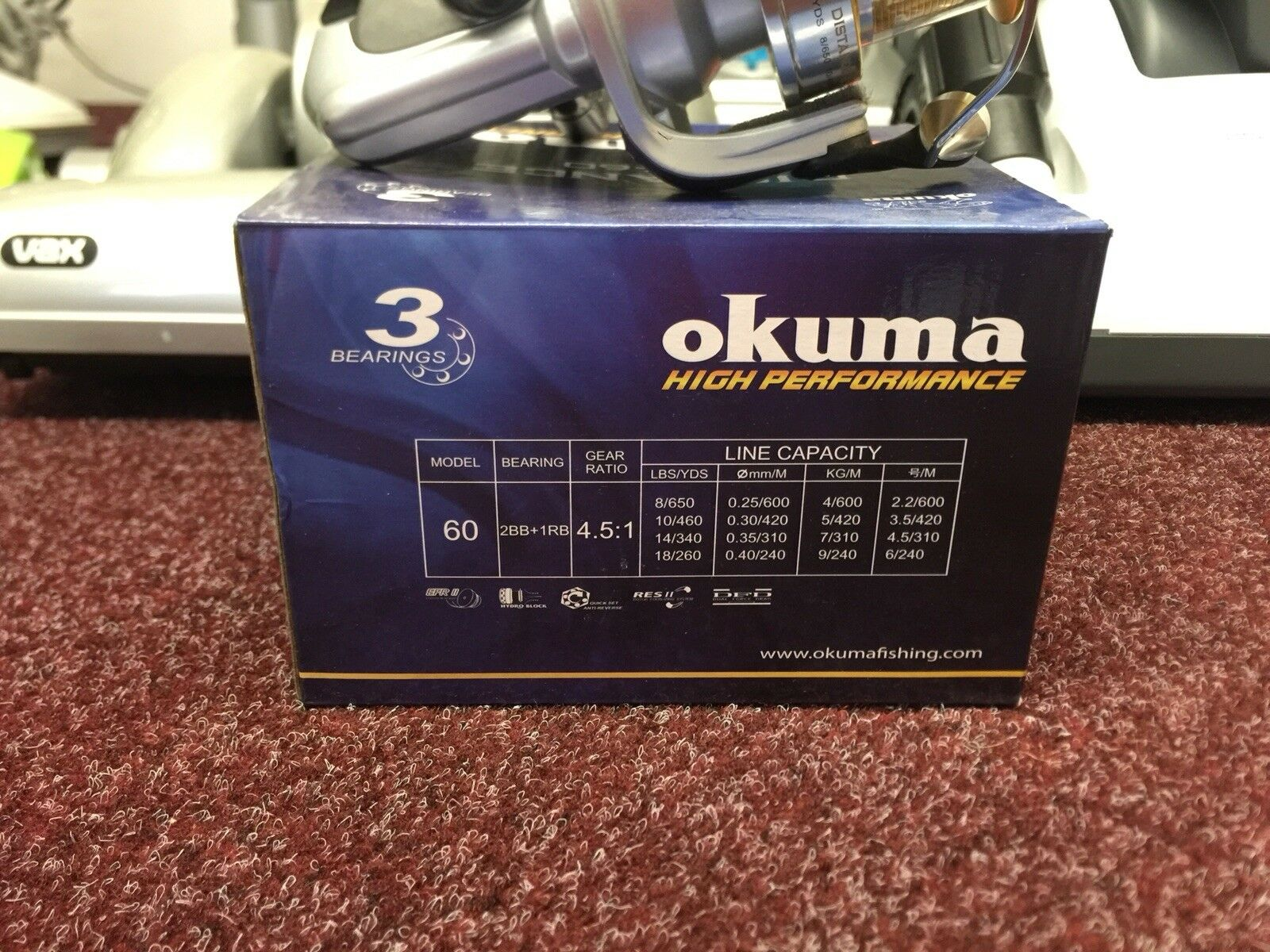 Okuma Dead Ringer Drg-80 Fixed Spool Spool Fixed 8eb2a5