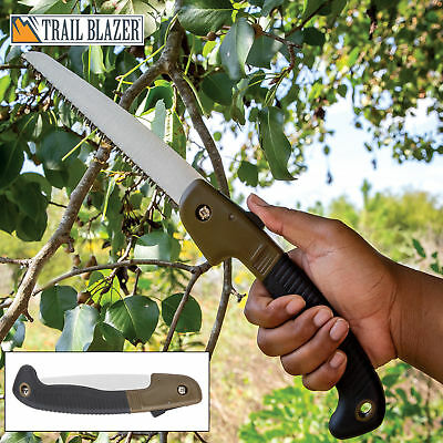 Compact Folding Saw Camping Survival Pruning Garden Outdoor Backpacking