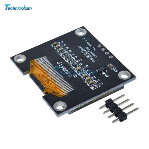 "1//5//10PCS 1.3/"" OLED LCD Display Module IIC I2C Interface 128x64 3-5V For Arduino"