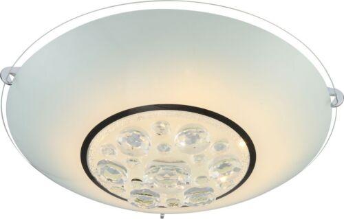 LED Deckenleuchte Globo 48175-8 Louise 8 Watt Flurlampe rund Wohnraum Glas rund