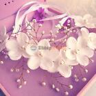 Boho Pearl Floral Flower Wedding Garland Headdress Headband Head Band Headpiece