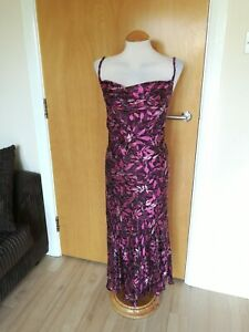 Ladies-CC-COUNTRY-CASUALS-Dress-Size-14-Long-Midi-Mother-Of-Bride-Party-Wedding