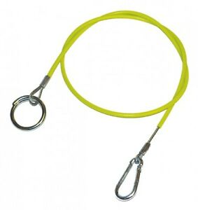 Hook and Ring Break Away Cable Hi Vis Brake Trailer Towing Safety 1M Fits Ifor Williams New
