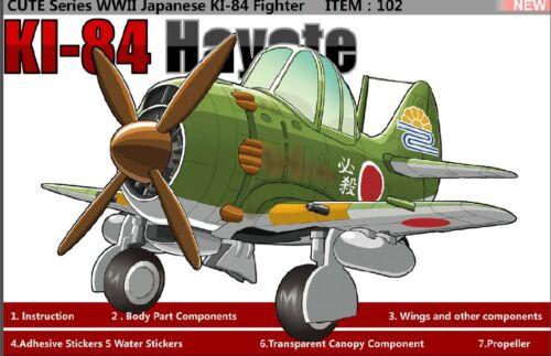 Tiger Model #102 CUTE Series WWII Japanese KI-84 Fighter