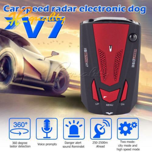 V7 360 Degree 16 Band Scanning LED Radar Detector Laser Car Speed Testing