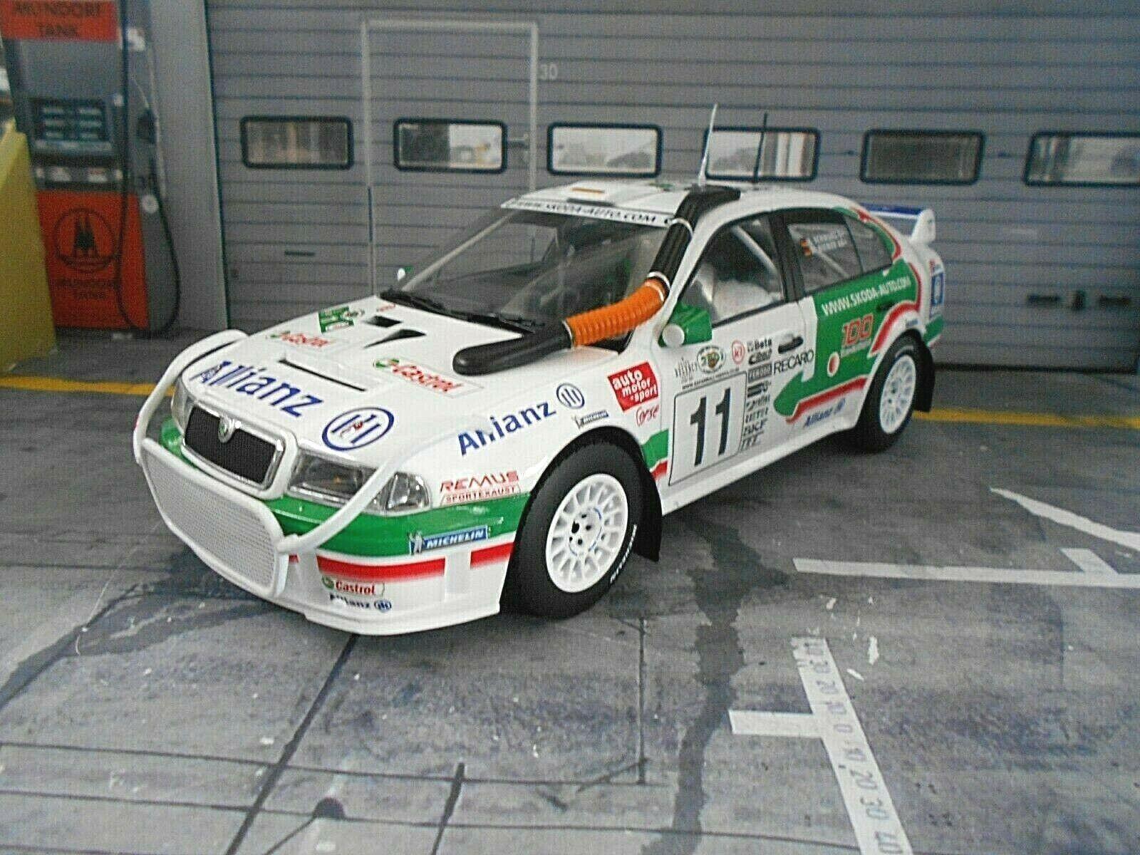 SKODA OCTAVIA WRC evo2 RALLY WM SAFARI AFRICA 2001  11 NERO foxtoys 1 18